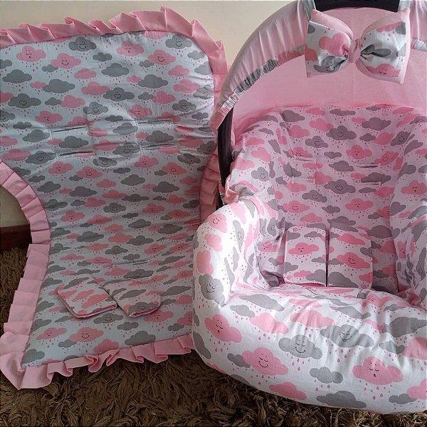 Kit capa para bebê conforto+capa colchonete para carrinho