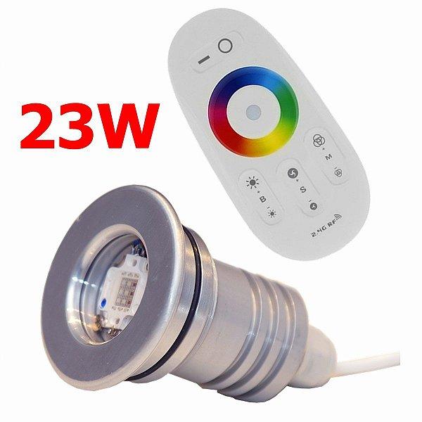 Kit Iluminação Piscina 1 Refletor 23w Led + Controle Touch