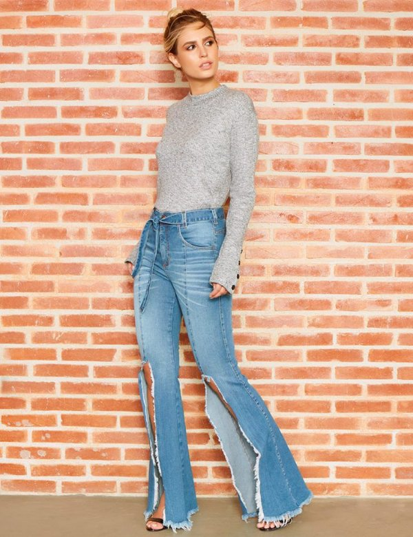 Calça Jeans FLARE - LEMIER - FC000636 - Últimas peças
