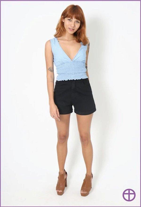 Shorts Jeans MOM - Black - Lady Rock - 10540