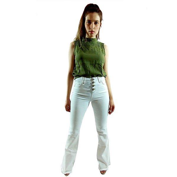 Calça Flare OFF White - CANATIBA® - Bebela Jeans - 14503