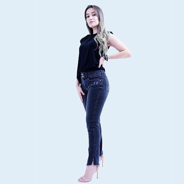 Calça CAPRI Tornozelo Jeans Black - Loopper - K2887559