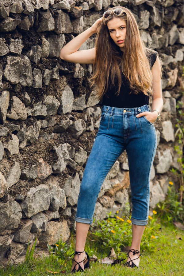 Calça MOM Jeans Médio C/ Pence - Loopper - K2905464 - LYCRA®BEAUTY
