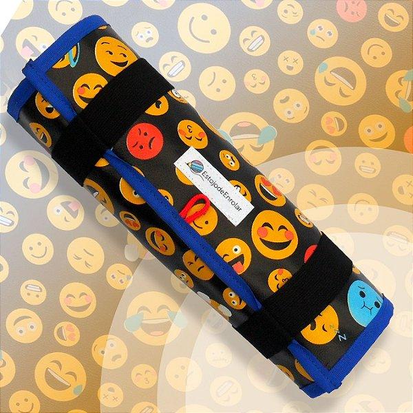 Estojo para Lápis De Cor ou Canetinhas estampa Smile Emoji (g)