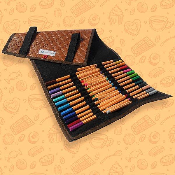 Estojo Caramelo para Lápis de Cor ou Canetinhas (g)