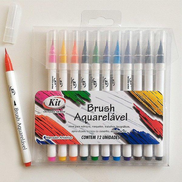 Marcadores Artísticos Brush Aquarelável 12 unids.