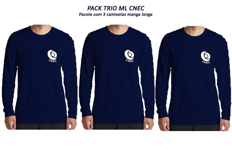 PACK TRIO ML CNEC (3 camisetas manga longa)