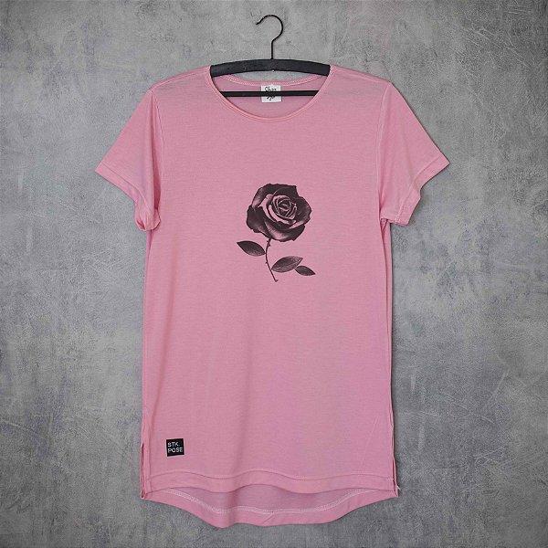 BLACK ROSE - LONG TEE