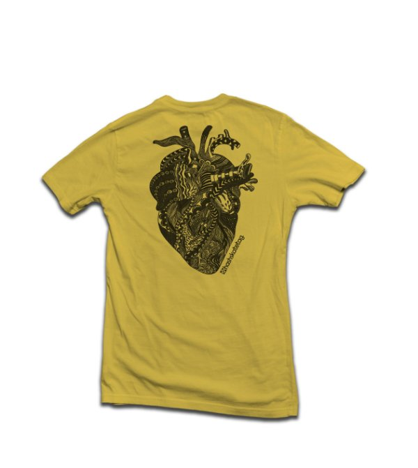 Camiseta Tribal Heart Ocre