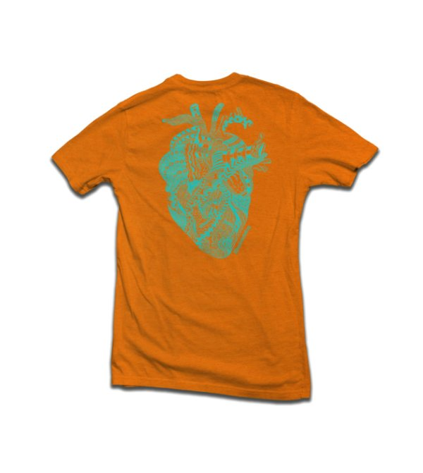 Camiseta Tribal Heart Laranja