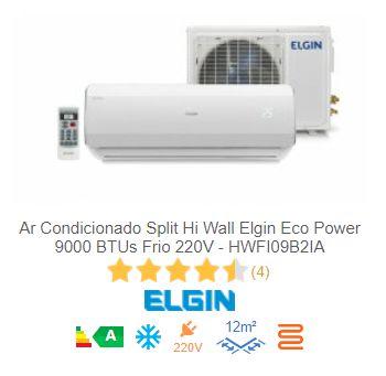 Ar Condicionado Split Hi Wall Elgin Eco Power 9000 BTUs Frio 220V - HWFI09B2IA