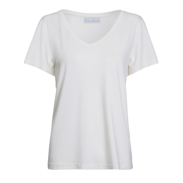 T-Shirt Essential Modal Gola V Off White