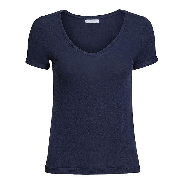 T-Shirt Linho Marinho