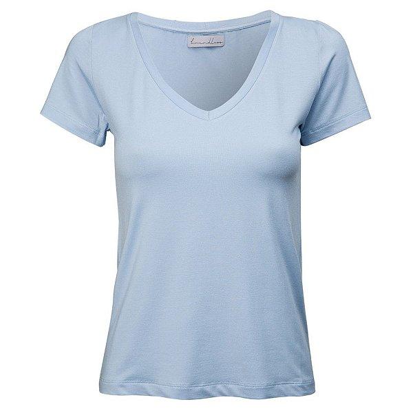 T-Shirt Gola V Modal Azul Céu