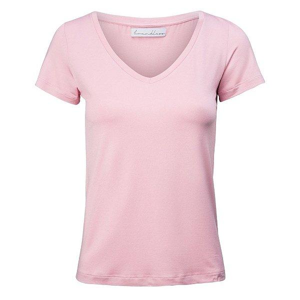 T-Shirt Gola V Modal Rosa Matte