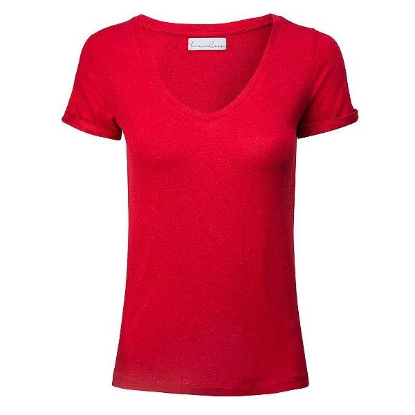T-Shirt Linho Cereja