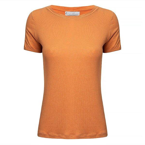 T-Shirt Gola C Linho Pêssego