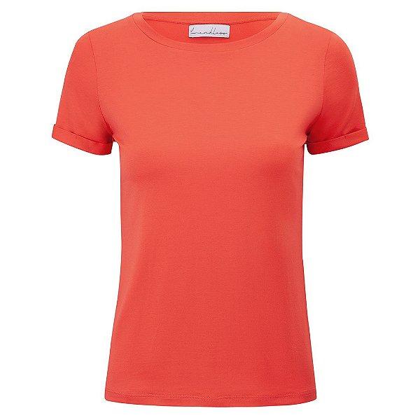 T-Shirt Modal Gola C Coral