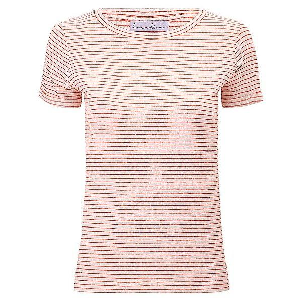 T-Shirt Gola C Listras Linho Telha & Off White