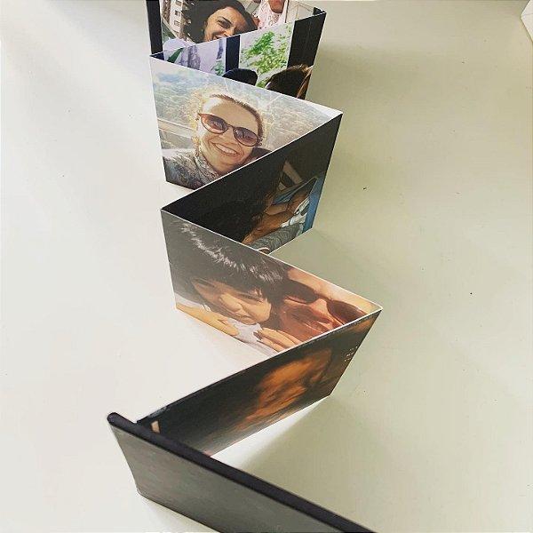 Album Sanfona 10 x 10 cm com 14 fotos