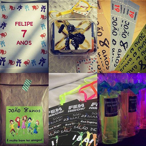 Kit Festejo BÁSICO (10 crianças)