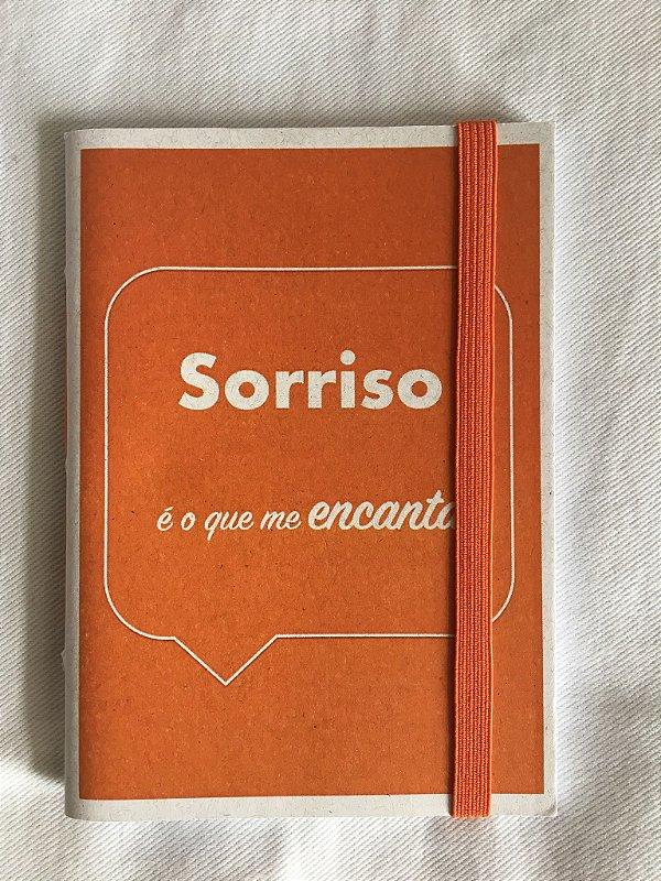 Caderninho - Coleção Os Sentimentos - SORRISO - tamanho 14 x 10 cm