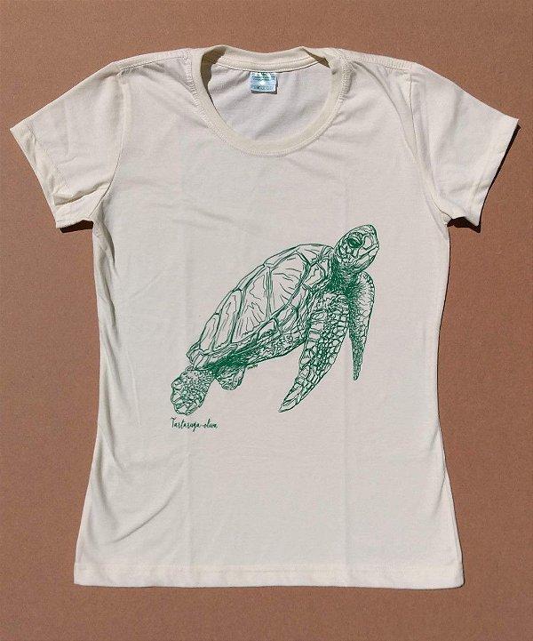 Camiseta Ecológica Tartaruga Oliva - Van Ray