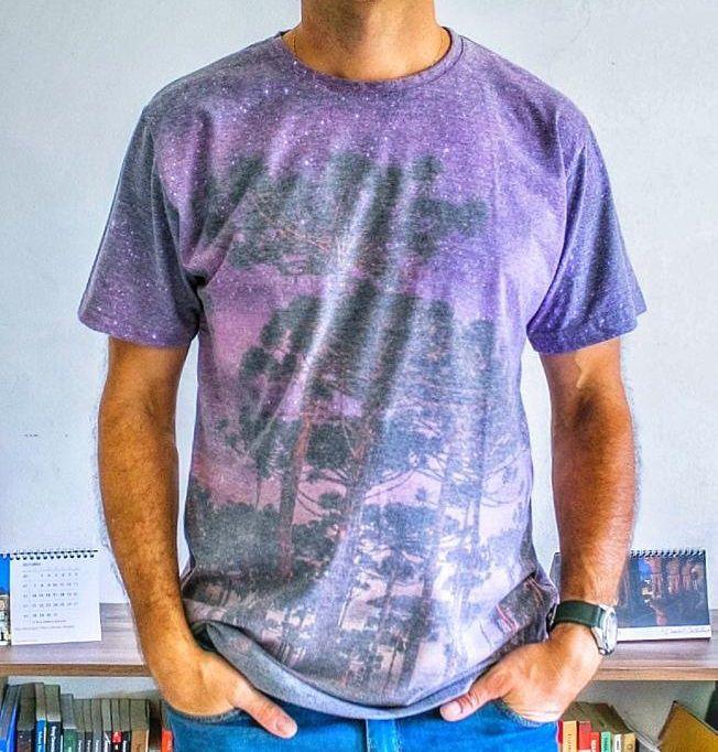 Camiseta Ecológica Pinheiros sob as Estrelas