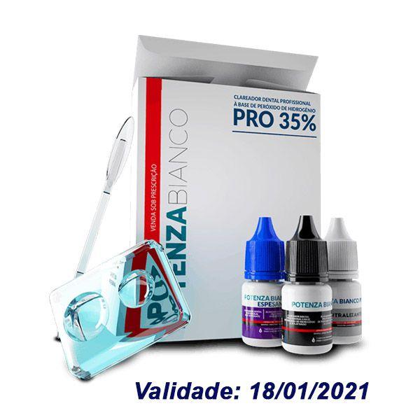 Clareador de Consultório Potenza Bianco | H2O2 Frasco 35% com 18 aplicações