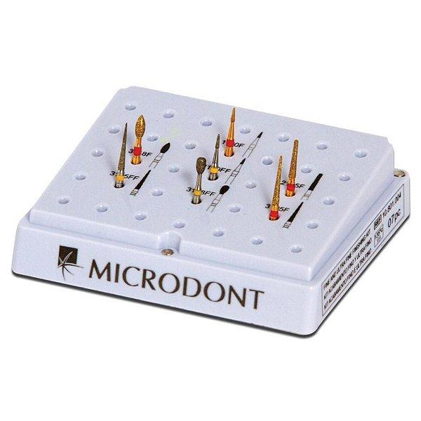 Kit de Pontas Diamantadas Para Acabamento Fino e Ultrafino - Microdont