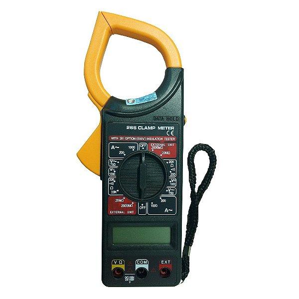 Alicate Amperímetro Digital 266 com Estojo e Bateria 9V