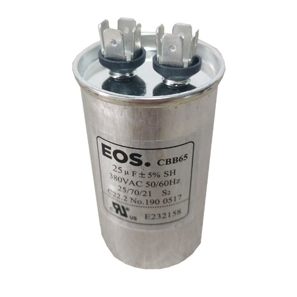 Capacitor 25MFD 380VAC EOS