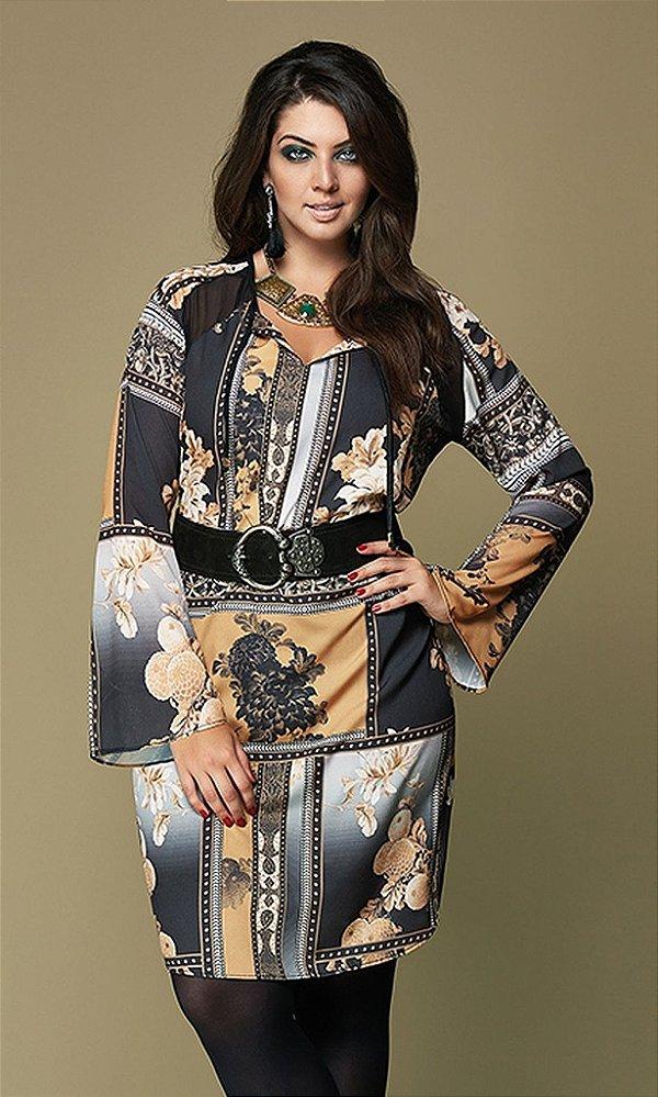 Vestido Chemisie Estampado - 5373