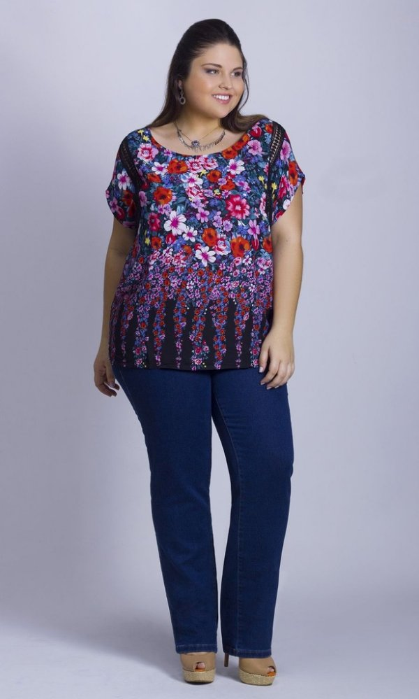 Blusa com Estampa Sublimada - BL00008