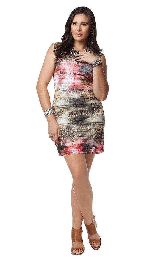 Vestido com Estampa Animal Print - 9377