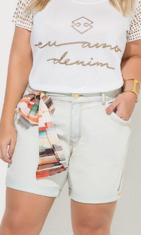 Shorts Jeans com Barra Italiana - 17441