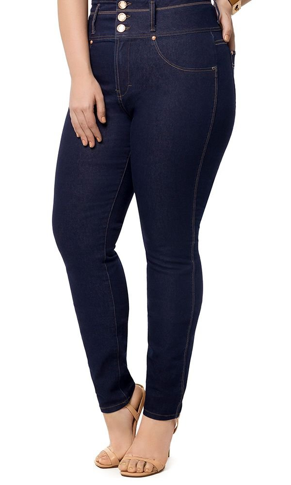 Calça Jeans Skinny Cintura Alta   31952