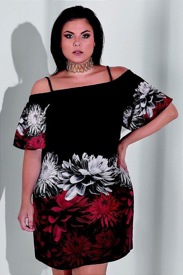 Vestido Ciganinha com Estampa Floral   5586