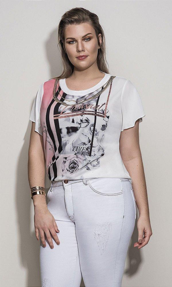 T-Shirt com Estampa Sublimada   3910