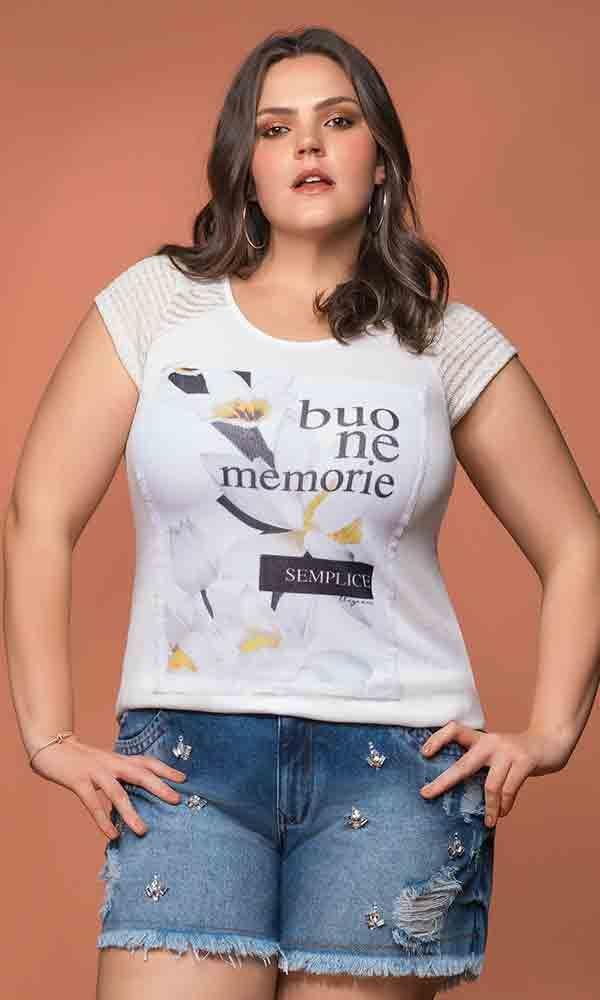 T-Shirt Sublimada Lírio Noturno   3973