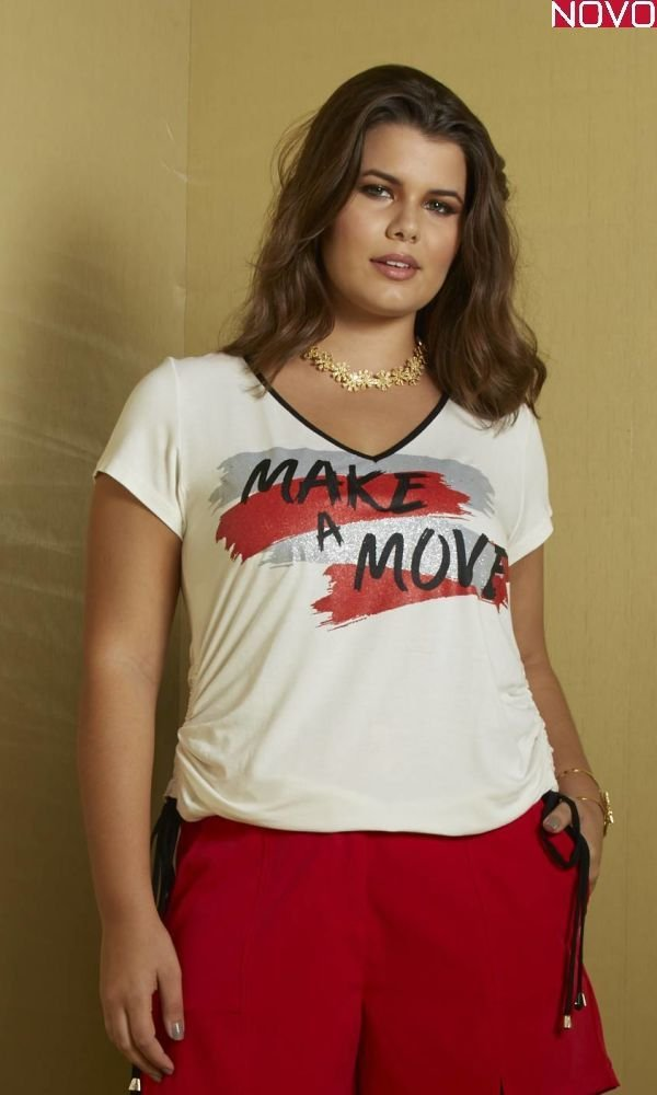 T-Shirt com Estampa Frontal   31273