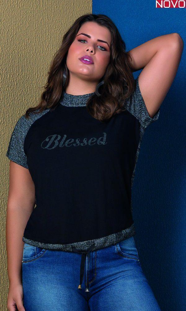 T-Shirt com Gola Alta   31373