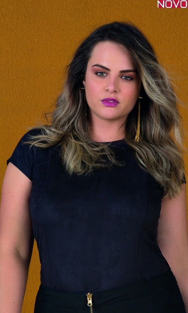 Blusa Evasê com Recortes em Camurça    31330