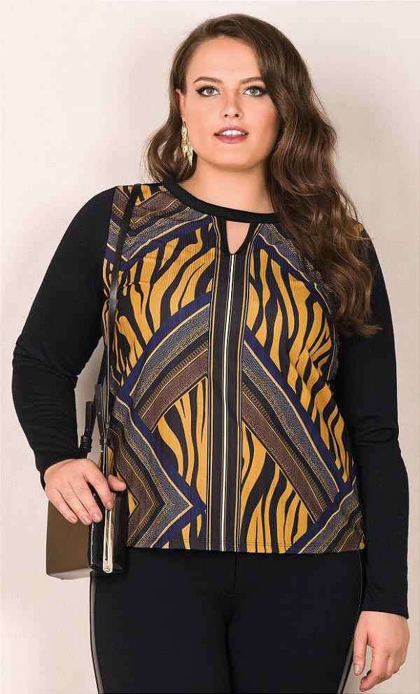 Blusa com Estampa Sublimada      20708