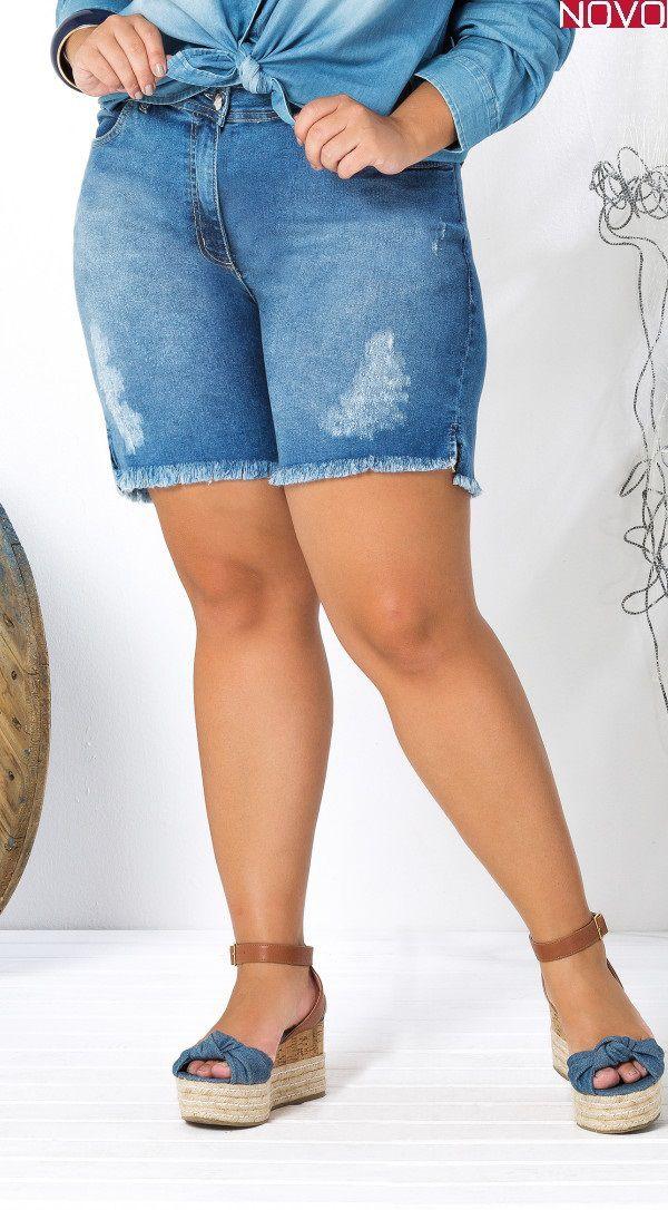 Shorts Jeans com Barra Desfiada    20903