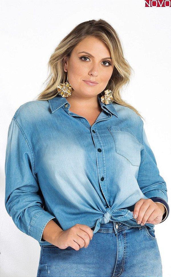 – Camisa Jeans Manga Longa    20823