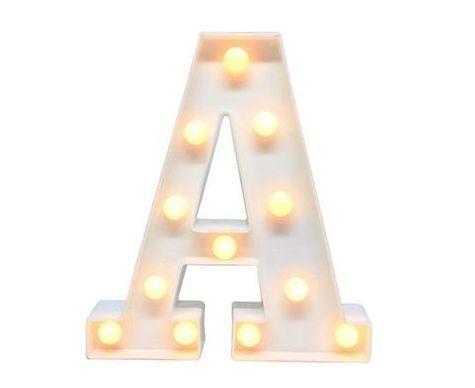 Luminária Alfabeto LED Sem Fio DIVERSAS LETRAS