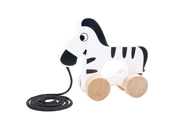 Zebra de Puxar - Madeira
