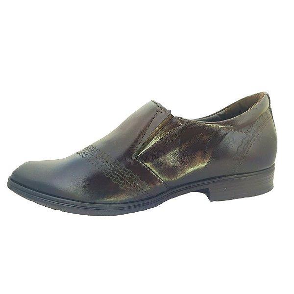 Sapato Social Pegada Loafer Bico Quadrado Couro
