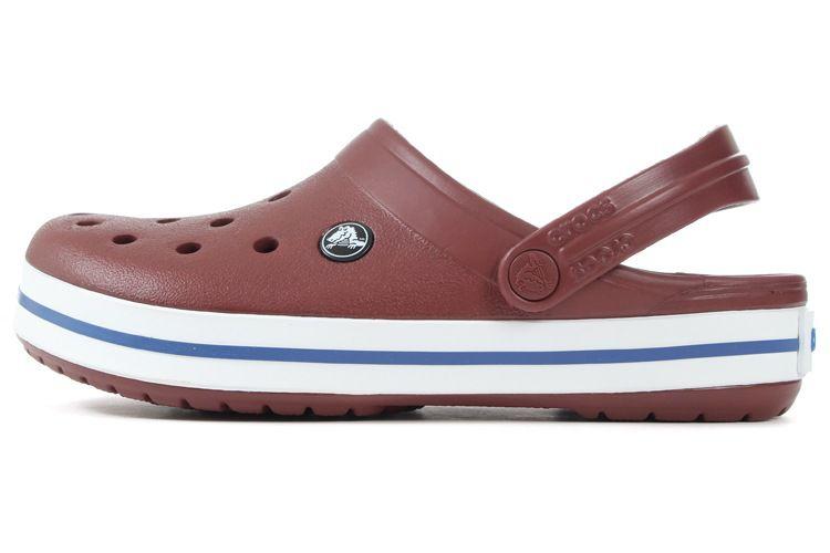 Sandalia Crocs Crocband Clog Garnet White